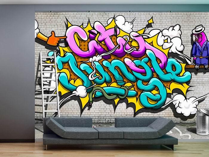 Murando DeLuxe Tapeta Graffiti - City Jungle  - zvìtšit obrázek