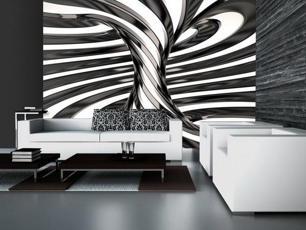 Murando DeLuxe 3D Èernobílý vír  - zvìtšit obrázek