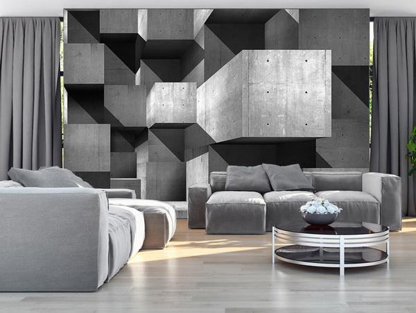Murando DeLuxe 3D tapeta betonové kvádry  - zvìtšit obrázek