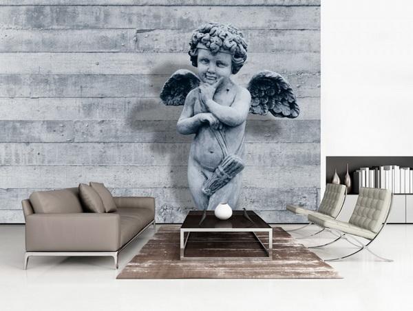 Murando DeLuxe Tapeta andìl strážný šedý  - zvìtšit obrázek
