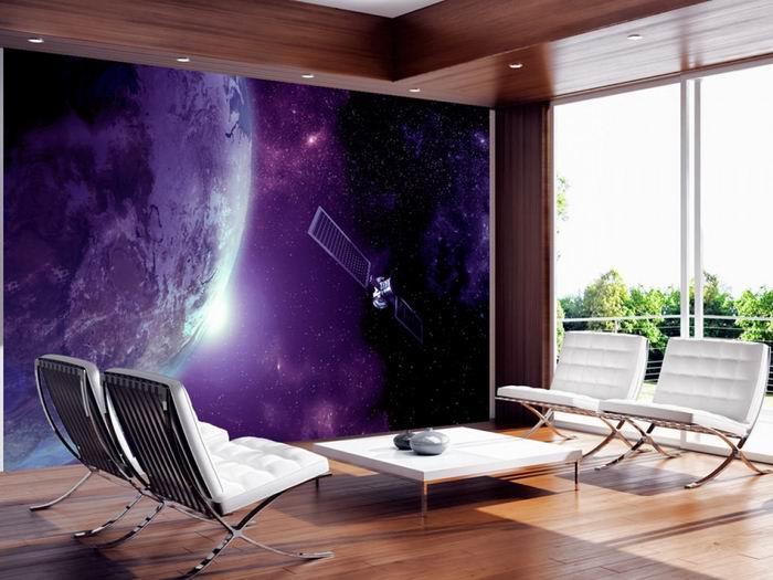 Murando DeLuxe Tapeta Fialový vesmír  - zvìtšit obrázek