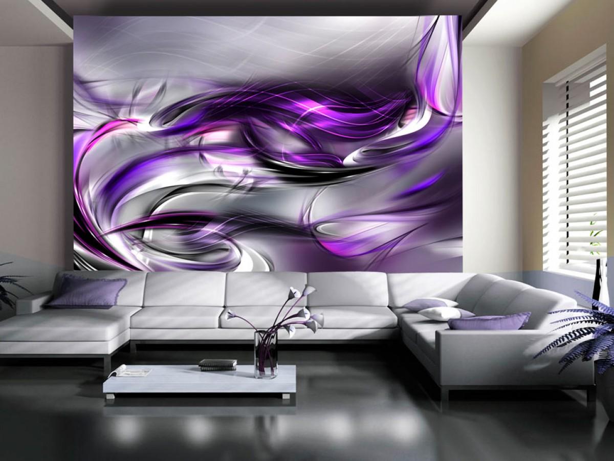 Murando DeLuxe Tapeta Purpurové vlny  - zvìtšit obrázek
