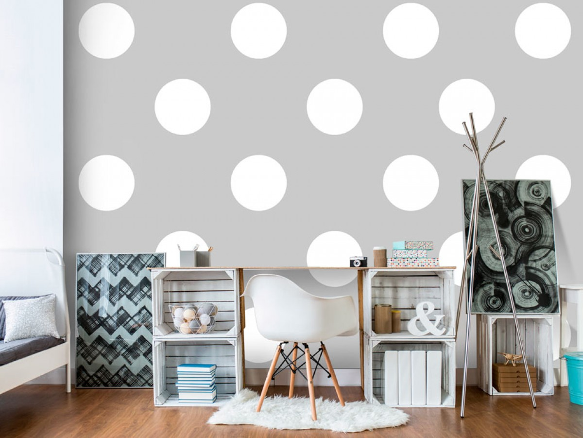 Murando DeLuxe Tapeta s puntíky šedá  - zvìtšit obrázek