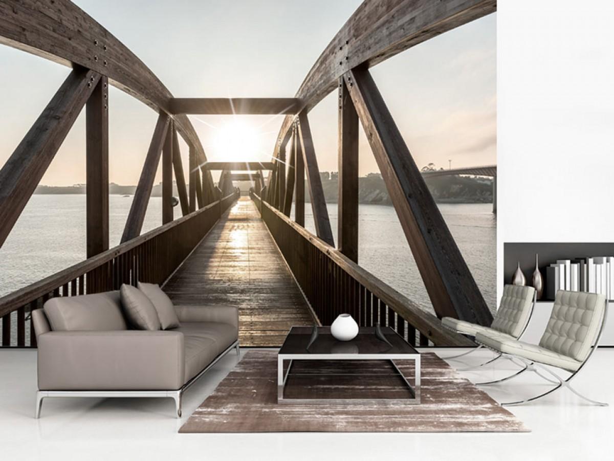 Murando DeLuxe Tapeta Most nad øekou  - zvìtšit obrázek