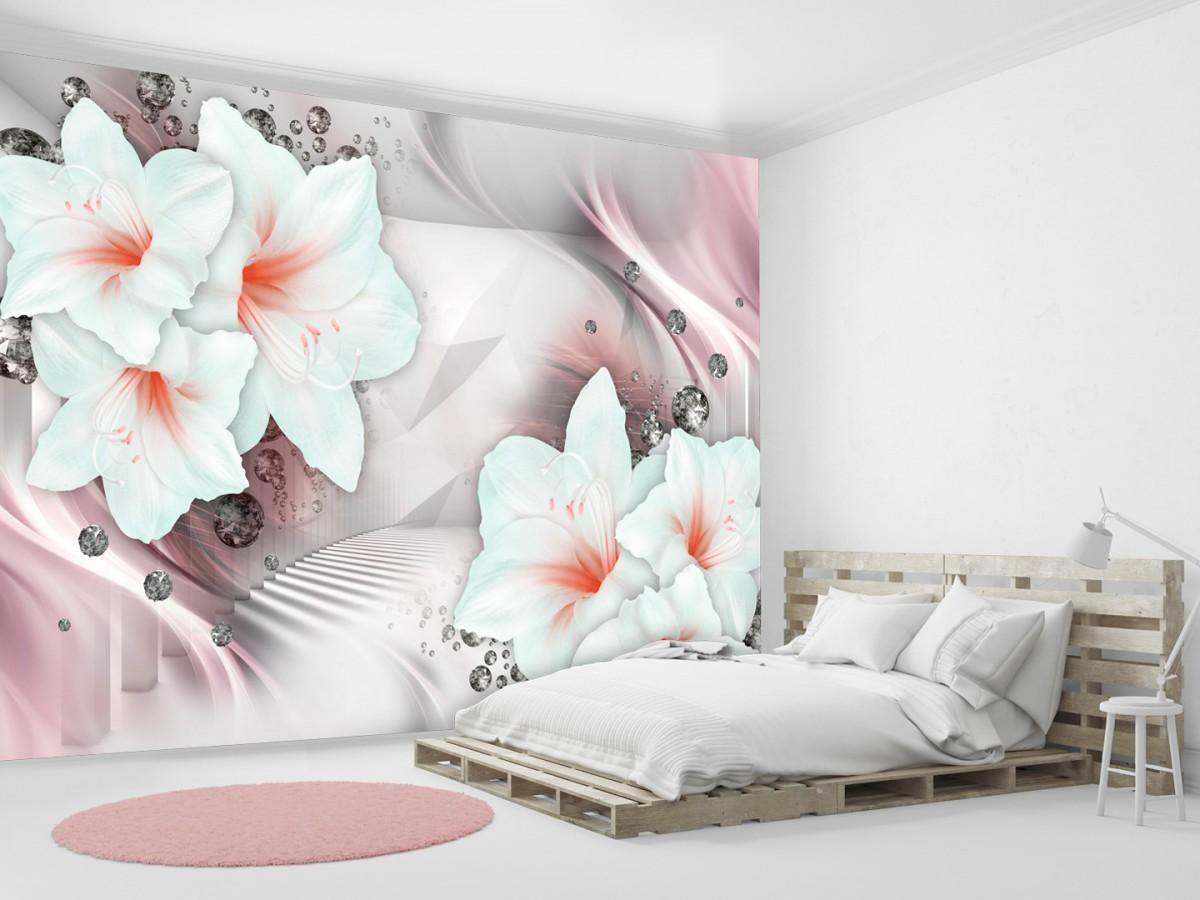 Murando DeLuxe Tapeta Rùžové lilie  - zvìtšit obrázek