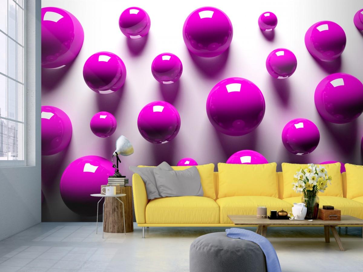 Murando DeLuxe 3D tapeta fialové koule  - zvìtšit obrázek