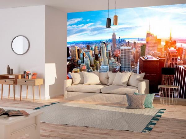 Murando DeLuxe Tapeta východ slunce - Manhattan  - zvìtšit obrázek