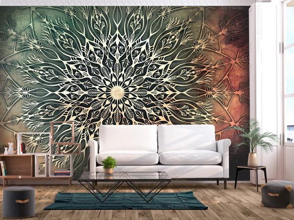 Murando DeLuxe Tapeta Mandala pampeliška - zelená  - zvìtšit obrázek