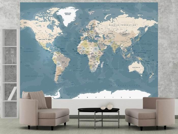 Murando DeLuxe Mapa svìta vintage  - zvìtšit obrázek