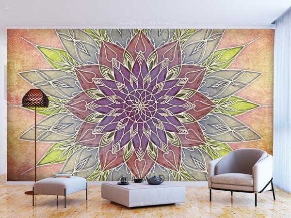 Murando DeLuxe Tapeta Mandala v pastelových barvách  - zvìtšit obrázek