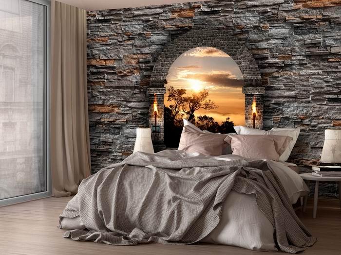 Murando DeLuxe Kamenná zeï s oknem  - zvìtšit obrázek
