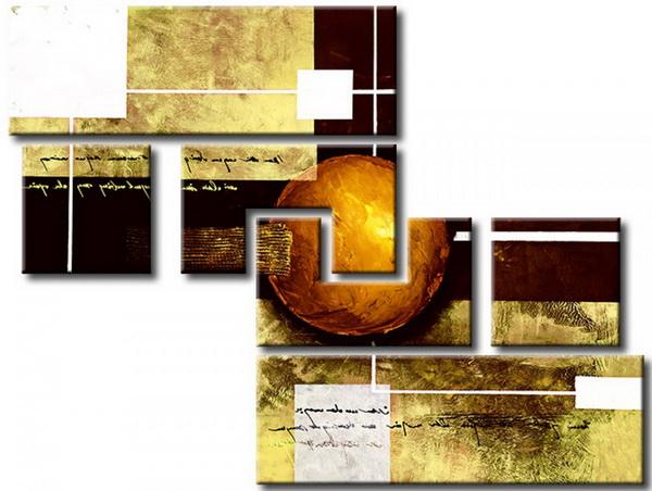 Murando DeLuxe Ruènì malovaný obraz Bronzová planeta  - zvìtšit obrázek