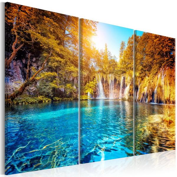 Murando DeLuxe Obraz vodopády v podzimním lese  - zvìtšit obrázek