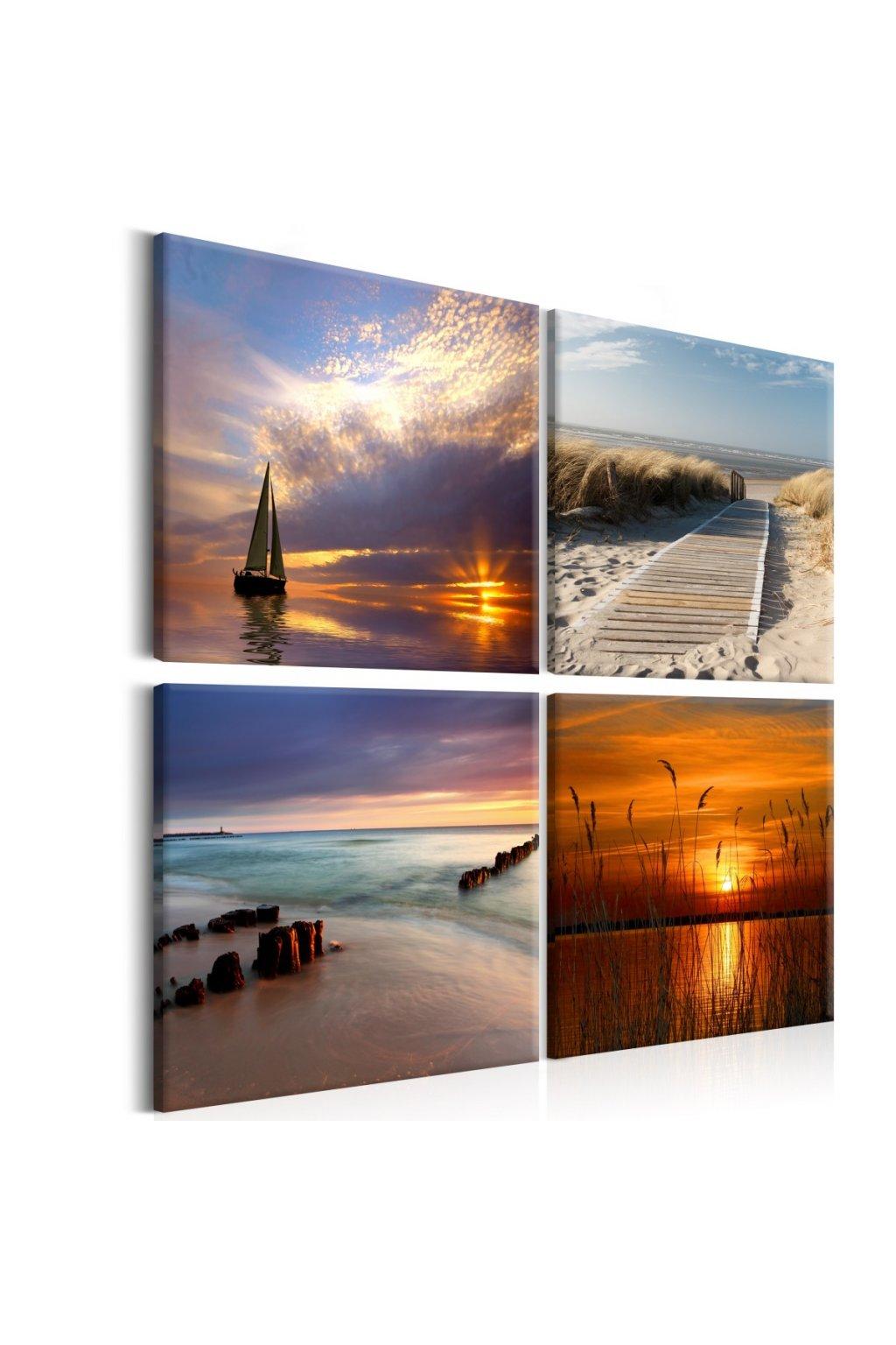 Murando DeLuxe Obraz - západ slunce nad oceánem  - zvìtšit obrázek