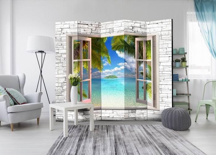 Murando DeLuxe Paraván ostrov snù za oknem  - zvìtšit obrázek