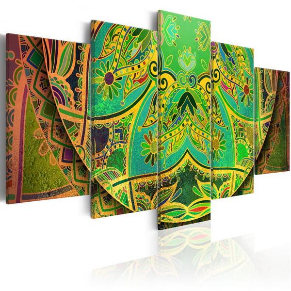 Murando DeLuxe Obraz - zelená Mandala  - zvìtšit obrázek