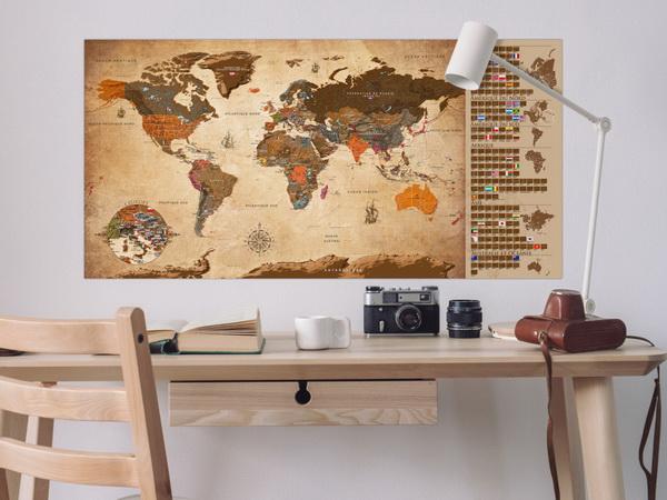 Murando DeLuxe Stírací mapa svìta Vintage francouzská  - zvìtšit obrázek